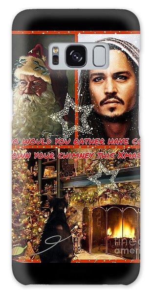 Johnny Depp Xmas Greeting Galaxy Case