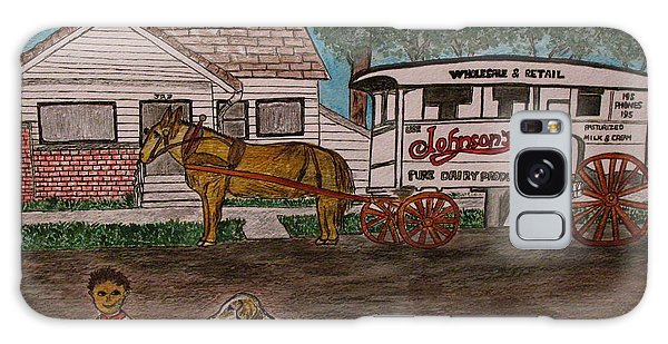 Johnsons Milk Wagon Pulled By A Horse  Galaxy Case