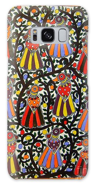 Joint Family Of Birds-madhubani Painting Galaxy Case