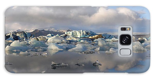 Jokulsarlon Glacier Lagoon Panorama Galaxy Case by IPics Photography