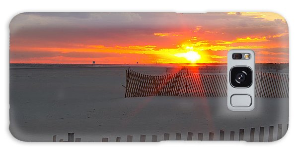 Jones Beach Sunset One Galaxy Case by Jose Oquendo