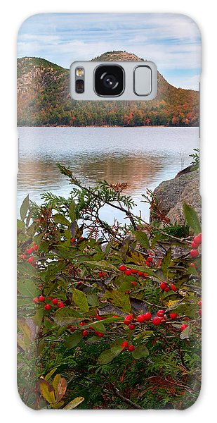 Jordan Pond With Berries Galaxy Case