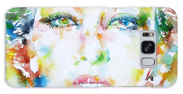 Josephine Baker - Watercolor Portrait Galaxy Case by Fabrizio Cassetta