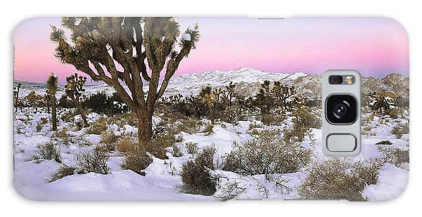 Joshua Tree In Snow Galaxy Case