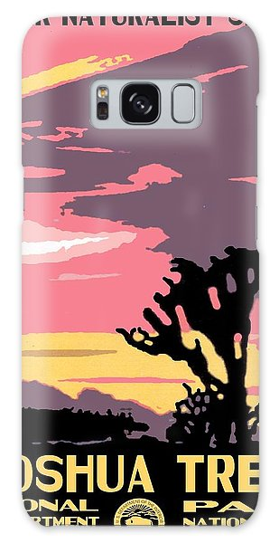 Joshua Tree National Park Vintage Poster Galaxy Case