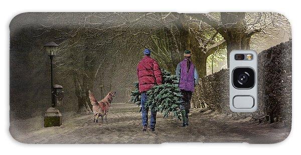 Joyeux Noel - Merry Christmas Galaxy Case by Lianne Schneider