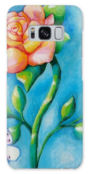 Joyful Garden #2 Top Panel Galaxy Case