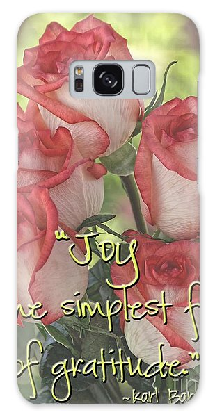 Joyful Gratitude Galaxy Case by Peggy Hughes
