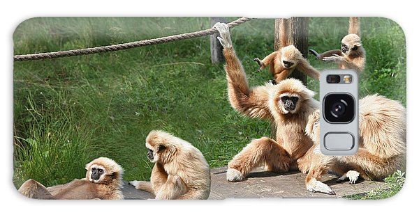 Joyful Monkey Family Galaxy Case