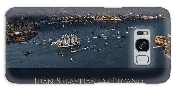 Juan Sebastian Elcano Departing The Port Of Ferrol Galaxy Case