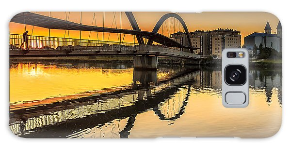 Jubia Bridge Naron Galicia Spain Galaxy Case by Pablo Avanzini