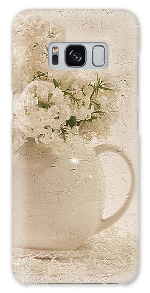 Jug Of White Lilacs Galaxy Case by Sandra Foster