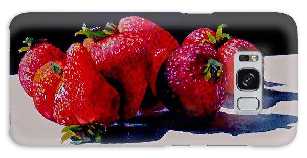 Juicy Strawberries Galaxy Case by Sher Nasser