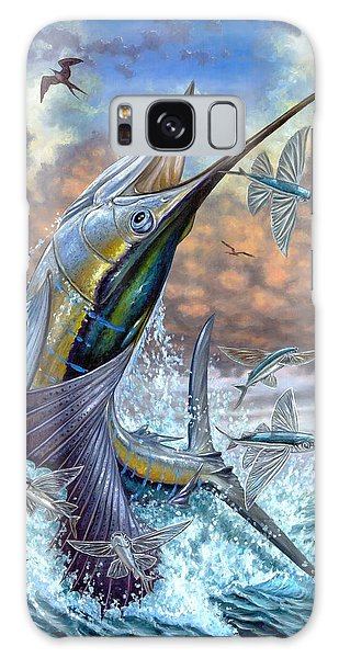 Jumping Sailfish And Flying Fishes Galaxy Case