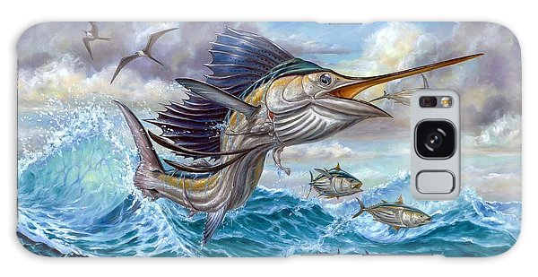 Jumping Sailfish And Small Fish Galaxy Case