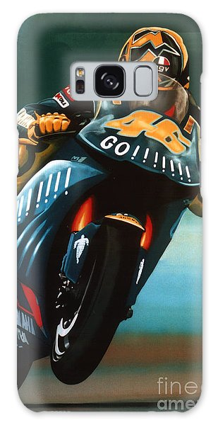 Sportsman Galaxy Case - Jumping Valentino Rossi  by Paul Meijering
