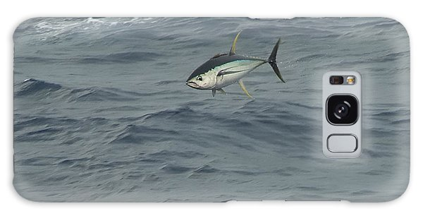 Jumping Yellowfin Tuna Galaxy Case