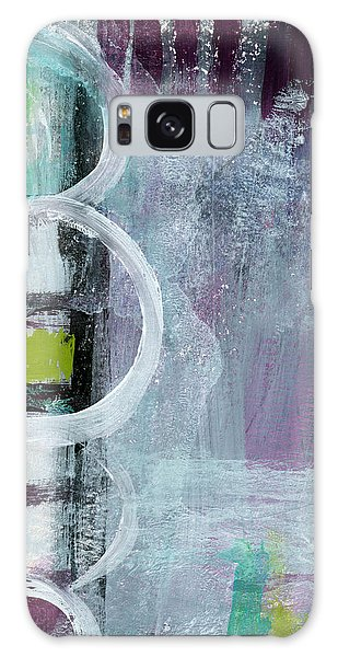 Black And White Art Galaxy Case - Junction- Abstract Expressionist Art by Linda Woods