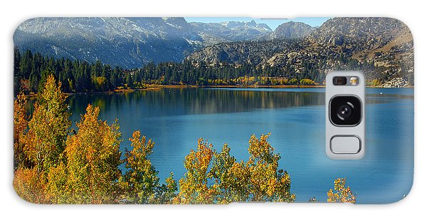 June Lake Blues And Golds Galaxy Case by Lynn Bauer