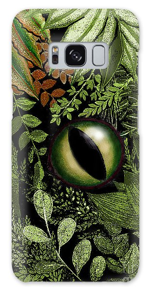 Jungle Eye Galaxy Case by Carol Jacobs