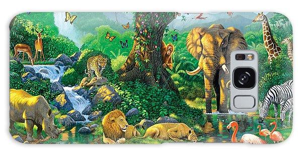 Orangutan Galaxy Case - Jungle Harmony by Chris Heitt
