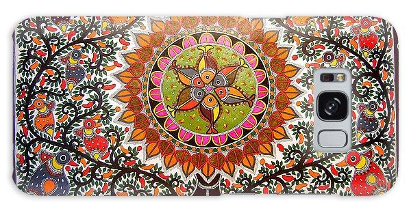 Jungle Life-madhubani Paintings Galaxy Case