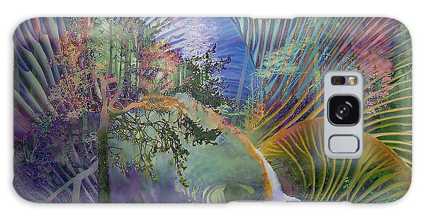 Jungle Mushrooms Galaxy Case by Ursula Freer