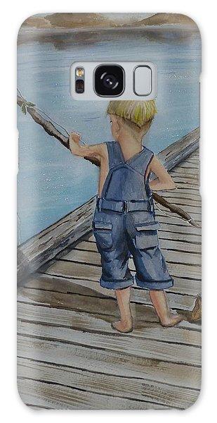 Juniors Amazing Fishing Pole Galaxy Case