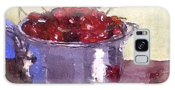 Just A Bowl Of Cherries Galaxy Case by MaryAnne Ardito