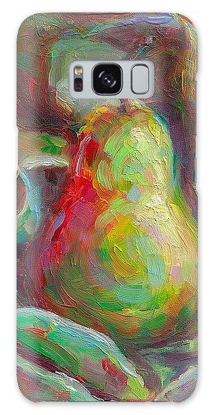 Just A Pear - Impressionist Still Life Galaxy Case