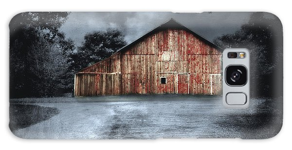 Night Time Barn Galaxy Case