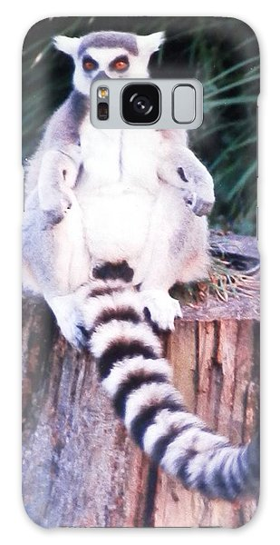 Handsome Lemur Just Hanging Out Galaxy Case by Belinda Lee