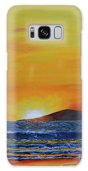 Just Left Maui Galaxy Case by Suzette Kallen