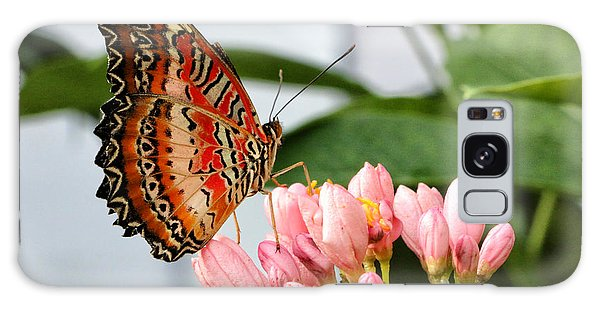 Just Pink Butterfly Galaxy Case by Shari Nees