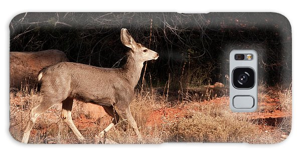 Boynton Galaxy S8 Case - Juvenile Mule Deer Running In Boynton by Jan and Stoney Edwards