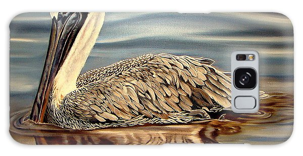 Pylon Galaxy Case - Juvenile Pelican by Phyllis Beiser