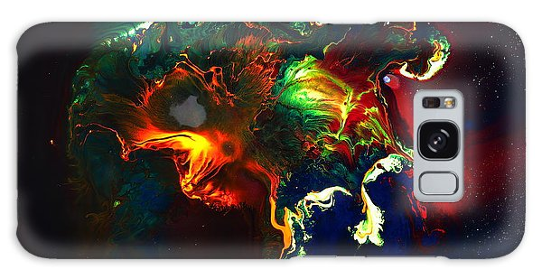 Kaboom - Bright Colorful Abstract Art By Kredart Galaxy Case