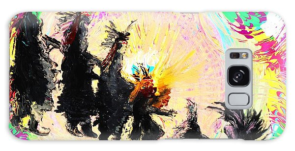 Kachina Fire Dancers Galaxy Case by Ayasha Loya