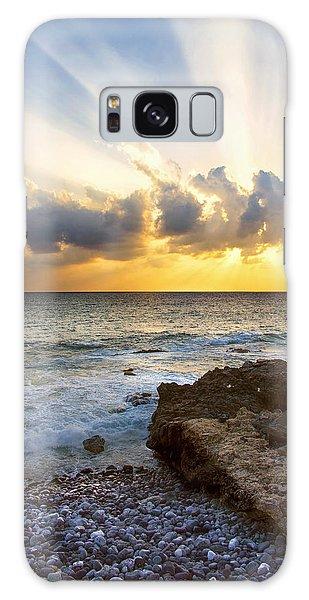 Kaena Point State Park Sunset 2 - Oahu Hawaii Galaxy Case