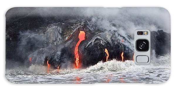 Lava Falls At Kalapana Galaxy Case by Venetia Featherstone-Witty