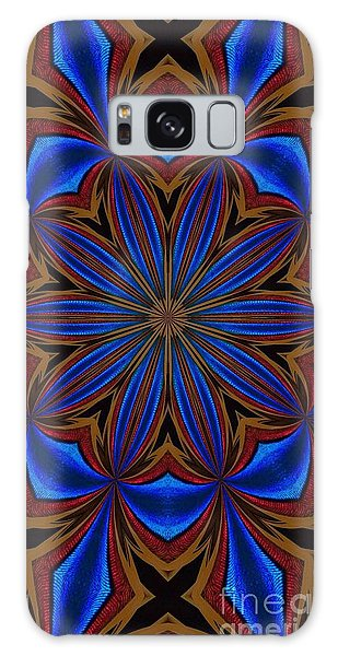 Kaleidoscope Feathers Four Galaxy Case