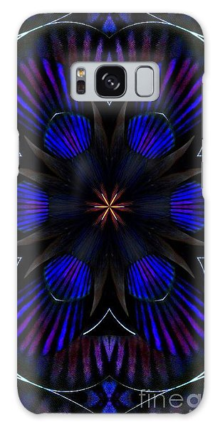 Kaleidoscope Feathers Three Galaxy Case by Suzanne Handel