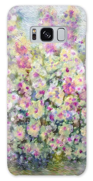 Kaleidoscope Of Flowers Galaxy Case