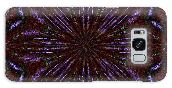 Kaleidoscope Peacoack Three Galaxy Case by Suzanne Handel