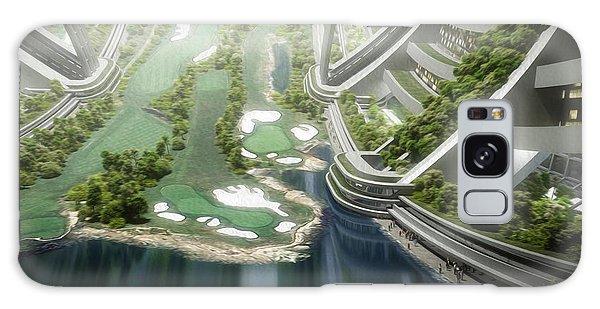 Galaxy Case featuring the digital art Kalpana One Golf Course by Bryan Versteeg
