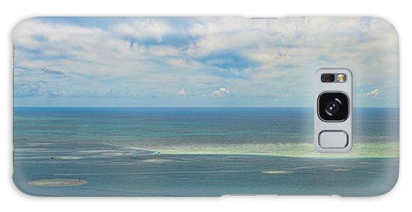 Kaneohe Sandbar Panorama Galaxy Case