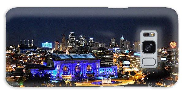 Kansas City Union Station In Blue  Galaxy Case