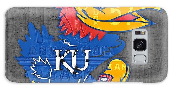 Kansas Jayhawks College Sports Team Retro Vintage Recycled License Plate Art Galaxy Case by Design Turnpike