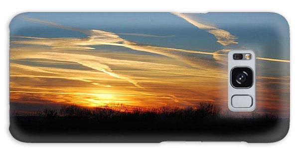 Kansas November Sunset Galaxy Case