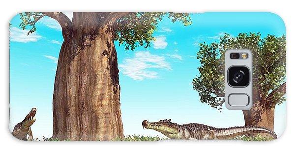 Kaprosuchus Prehistoric Crocodiles Galaxy Case by Walter Myers